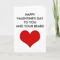 funny valentine's day to you and your beard holiday card