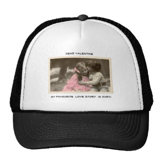 Funny Valentines Day Vintage Boy and Girl Trucker Hat
