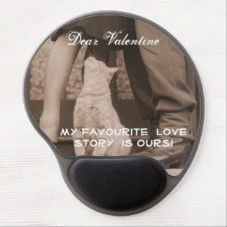 Funny Valentines Day Vintage Picture Gel Mouse Pad
