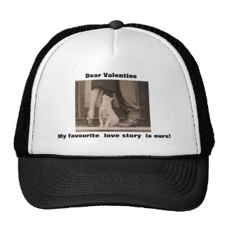 Funny Valentines Day Vintage Picture Trucker Hats
