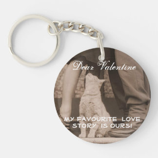 Funny Valentines Day Vintage Picture Double-Sided Round Acrylic Keychain
