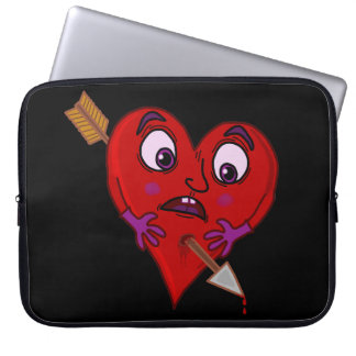 Funny Valentine's Heart with Arrow Laptop Sleeve