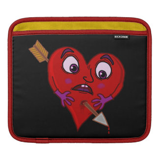 Funny Valentine's Heart with Arrow Sleeve For iPads