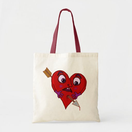 Funny Valentine's Heart with Arrow Tote Bag