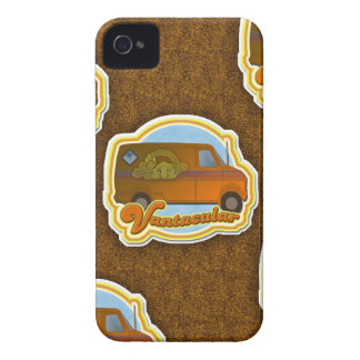Funny Van Shag Pattern iPhone 4 Case-Mate Cases