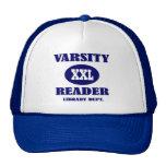 Funny Varsity Reader Hat Library Dept Gift