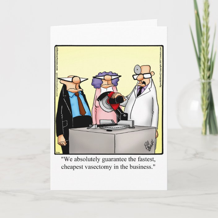 Funny Vasectomy Humor Get Well Card Zazzle Com