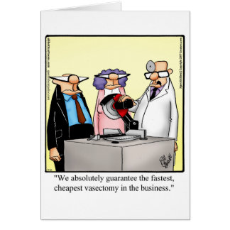 Funny Vasectomy Humor Get Well Card