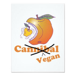 funny vegan apple 4.25x5.5 paper invitation card