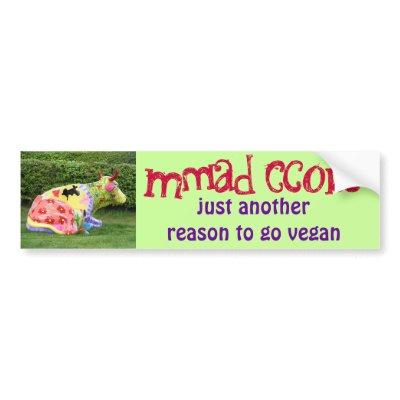 Vegan Funny Bumper Stickers on Funny Vegan Bumper Sticker ...