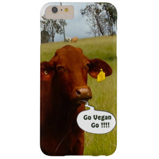 Funny Vegan cow  Iphone 6 Plus Barely There iPhone 6 Plus Case