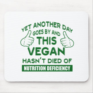 Funny Vegan T-shirt Mouse Pad