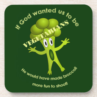 Funny Vegetarian Quote Coaster