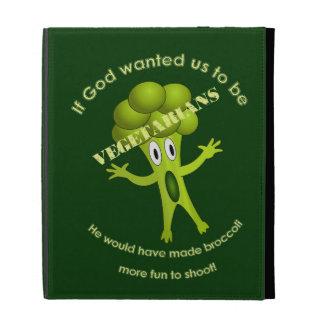 Funny Vegetarian Quote iPad Folio iPad Cases