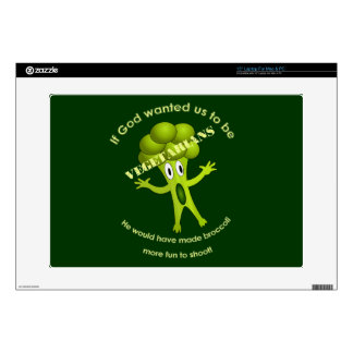 Funny Vegetarian Quote Laptop Skin