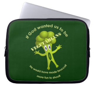 Funny Vegetarian Quote Laptop Sleeve