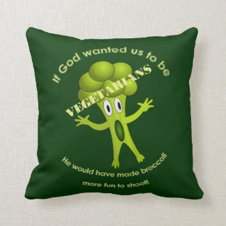 Funny Vegetarian Quote Pillow