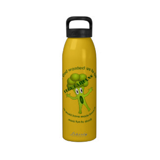 Funny Vegetarian Quote Water Bottle