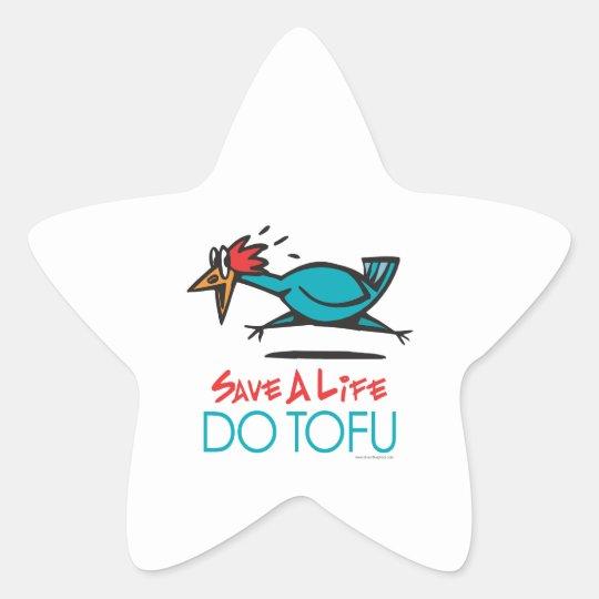 Funny Vegetarian Tofu Star Sticker