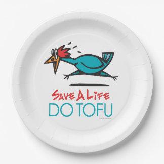 Funny Vegetarian, Vegan DO TOFU Paper Plate