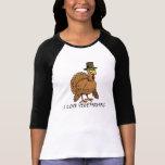 Funny Vegetarians Thanksgiving Turkey Pilgrim T-Shirt