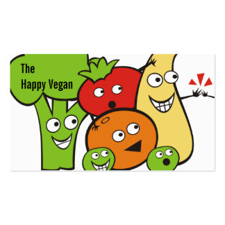 funny veggies fruits high five cooking biz cards Double-Sided standard business cards (Pack of 100)