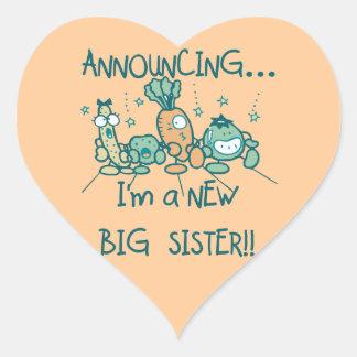 Funny Veggies New Big Sister Stickers
