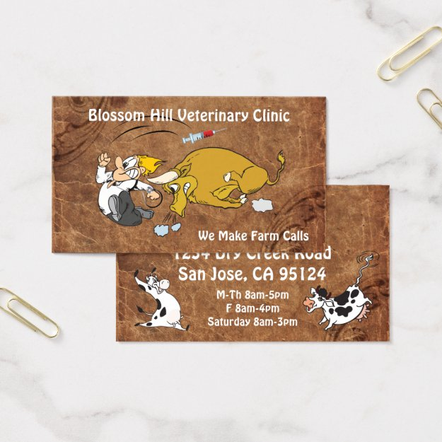 Funny Veterinary Business Card