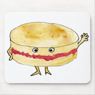 funny Victoria sponge cake foodie art mouse mat Mouse Pad