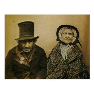 Funny Victorian Old Husband and Wife Couple Postcard