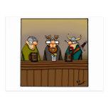 Funny Viking Drinking Cartoon Postcard