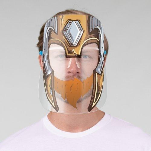 Funny Viking Helmet Beard Warrior Viking Face Shield