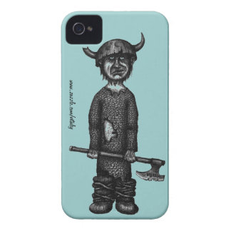 Funny viking pen ink drawing art Case-Mate iPhone 4 case