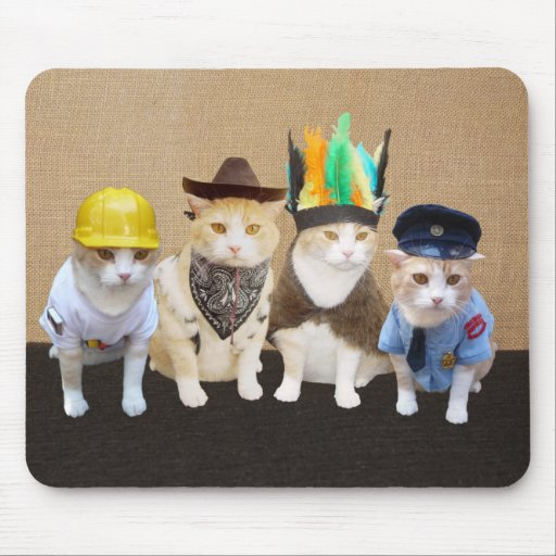 Funny Village Cats Mouse Pad