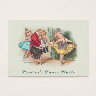 Funny Vintag Dance Studio/Instructor Business Card