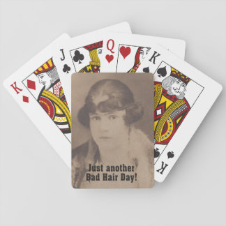 Funny Vintage 1920 Bad Hair Day Playing Cards