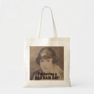 Funny Vintage 1920 I'm Having a Bad Hair Day Tote Bag