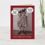 "Funny Vintage 1920s Older Sister Birthday Card<br><div class=""desc"">This is my Mom and her younger sister,  circa 1926,  Germany. Nothing like a little healthy sibling rivalry!</div>"