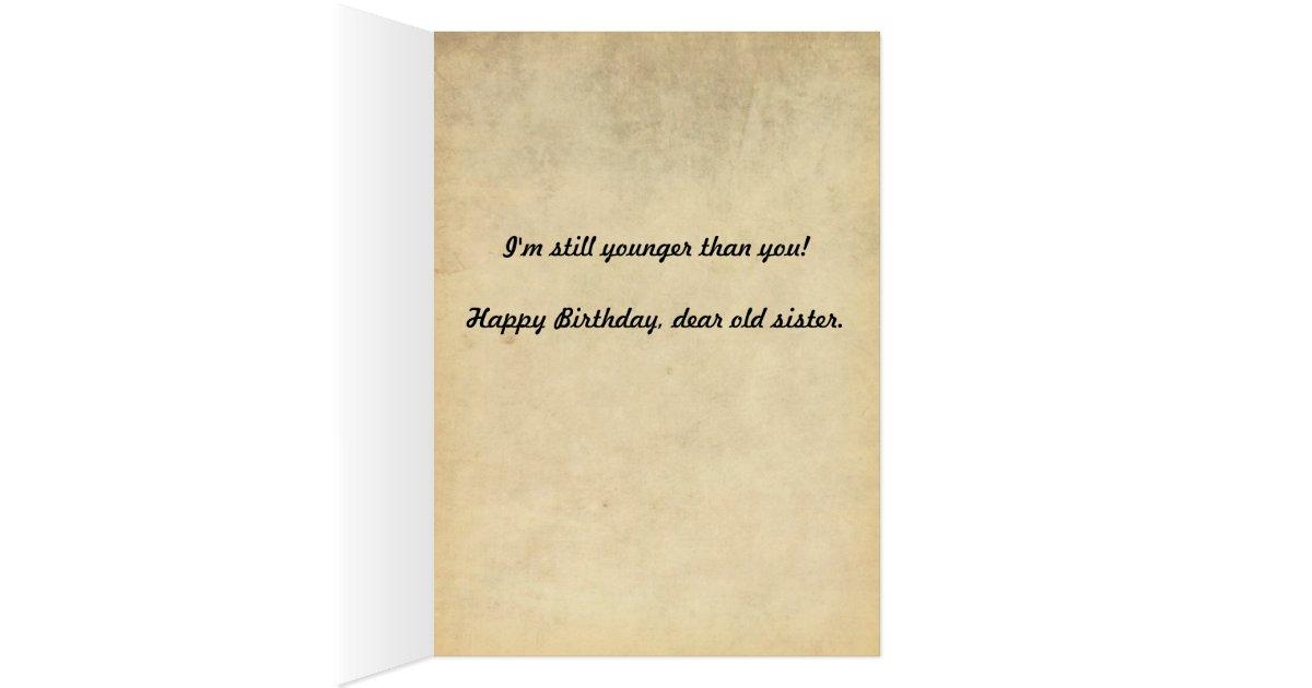 Funny Vintage 1920s Older Sister Birthday Card | Zazzle.com