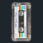 """Funny Vintage 80s Retro Music Cassette Tape Barely There iPhone 6 Case<br><div class=""""desc"""">A funny vintage 80s retro music cassette tape nostalgia design. A perfect gift for the music lover,  musician,  artist or the old school. A cool retro piece of nostalgia with space to ,  add your text,  lyrics,  favourite song or track,  band or any message.</div>"""