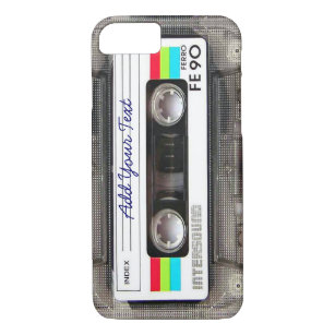 cheap for discount 95ba0 fdd3a Funny Vintage 80s Retro Music Cassette Tape iPhone 8/7 Case