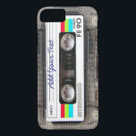 """Funny Vintage 80s Retro Music Cassette Tape iPhone 8/7 Case<br><div class=""""desc"""">A funny vintage 80s retro music cassette tape nostalgia design. A perfect gift for the music lover,  musician,  artist or the old school. A cool retro piece of nostalgia with space to ,  add your text,  lyrics,  favourite song or track,  band or any message.</div>"""