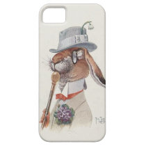 Funny Vintage Anthropomorphic Rabbit iPhone SE/5/5s Case