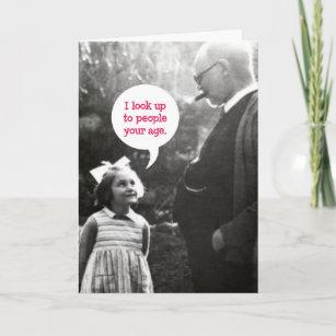 Funny Vintage Birthday Card For Older Man