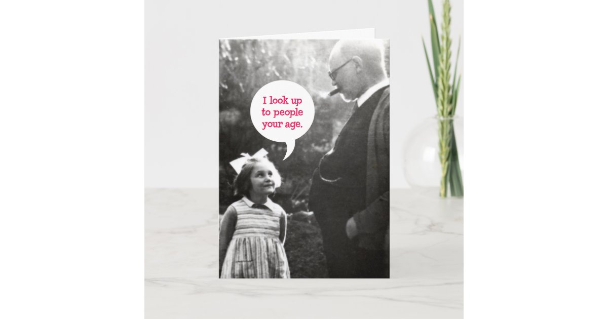 Funny Vintage Birthday Card For Older Man