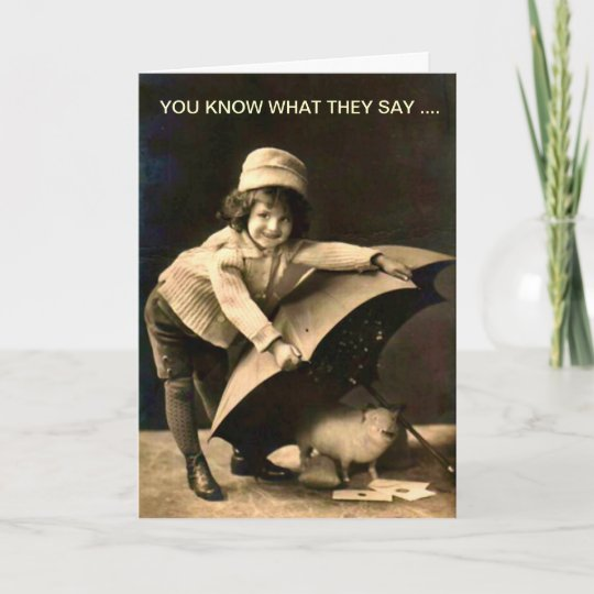Funny Vintage Birthday Picture Card Zazzle