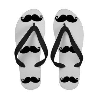 Funny Vintage Black Mustache Sandals