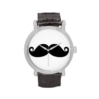 Funny Vintage Black Mustache Watches