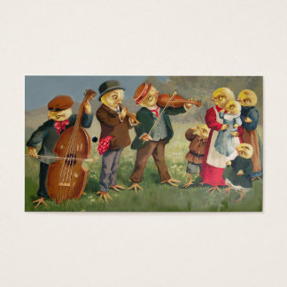 Funny Vintage Business Card - Chicken Band