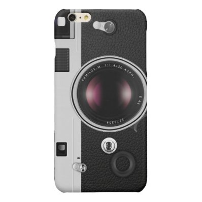 Funny Vintage Camera Cool Pattern Glossy iPhone 6 Plus Case
